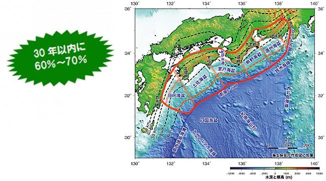 南海トラフ巨大地震の驚くべき被害想定