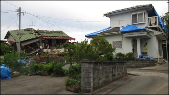 【益城町木山地区】右は1995年~2000年の建物(新耐震基準)