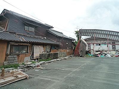 震災後の熊本県益城町の様子