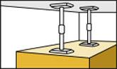 背の高い家具を突っ張り棒で固定