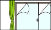 窓にガラス飛散防止フィルムを貼る
